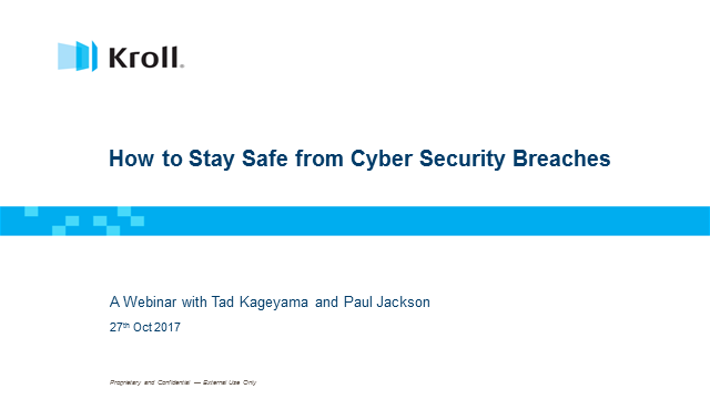 How to stay safe from cyber security breaches?