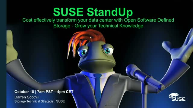 Technical Webinar: Transform your data center with Open Software Defined Storage