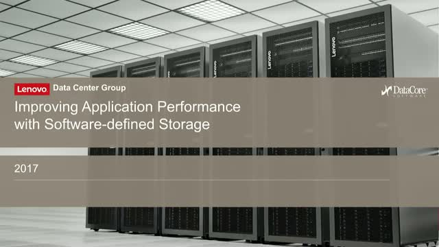 Improve application response times with Software-defined Storage?