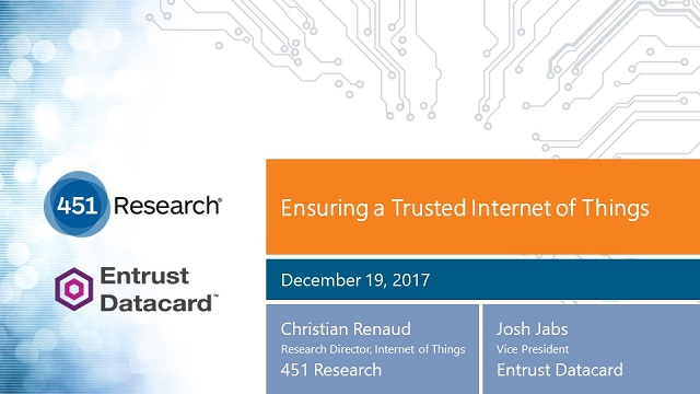 Ensuring a Trusted Internet of Things