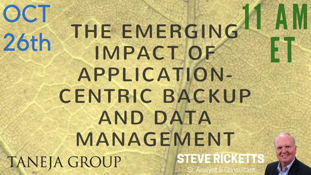 The Emerging Impact of Application-Centric Backup and Data Management