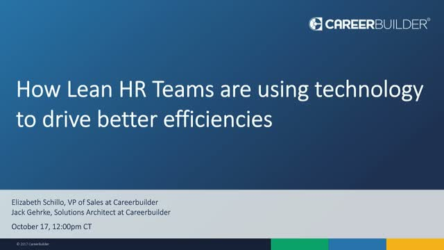 How automation is enabling Lean HR Teams to be more productive