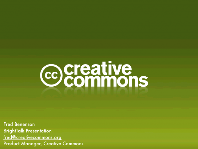 Creative Commons: The Sharing Standard