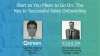 Start as You Mean to Go On: The Key to Successful Sales Onboarding