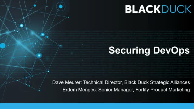 Micro Focus Fortify & Black Duck Present: End to End Security in a DevOps World