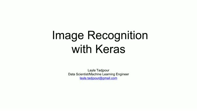 Image recognition with deep learning
