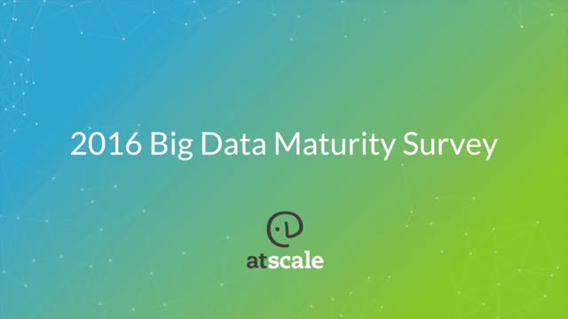 Big Data Maturity Survey Results: Big Data is No Longer Experimental