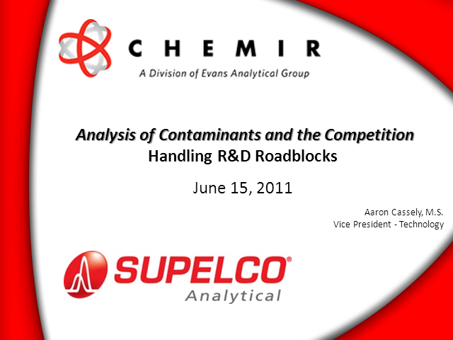 Analysis of Contaminants & Competition: Handling R&D Roadblocks