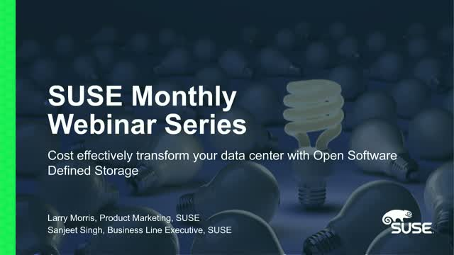 Cost effectively transform your data center with Open Software Defined Storage