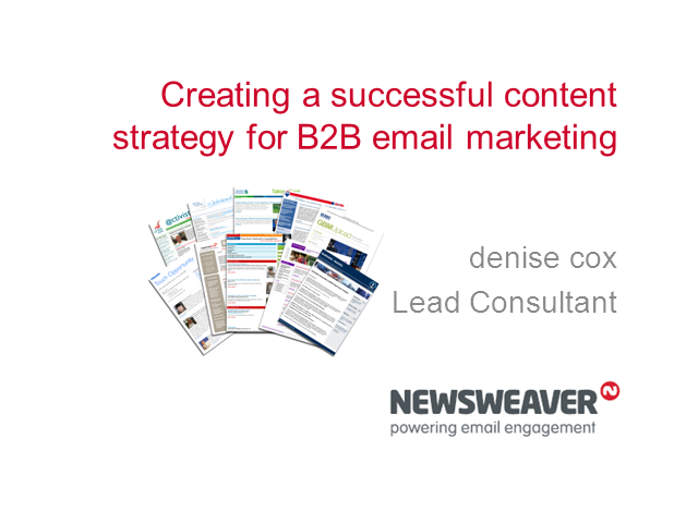 Creating a successful content strategy for B2B email marketing