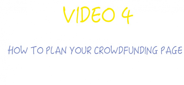 How to plan your crowdfunding page? Crowdfunding for startups and SMEs: Lesson