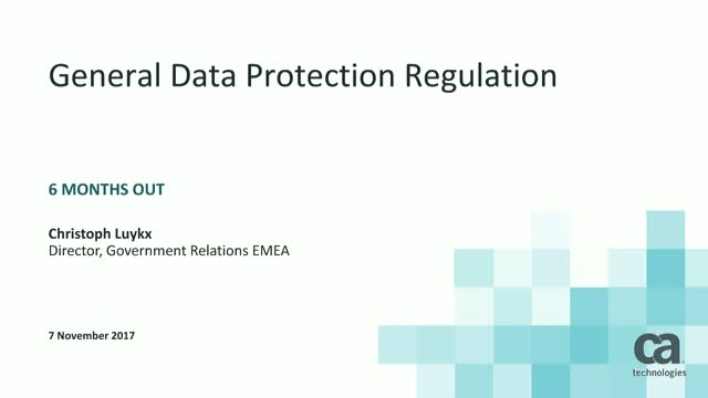 Discover how Nationwide prepares for GDPR rules with centralised data management