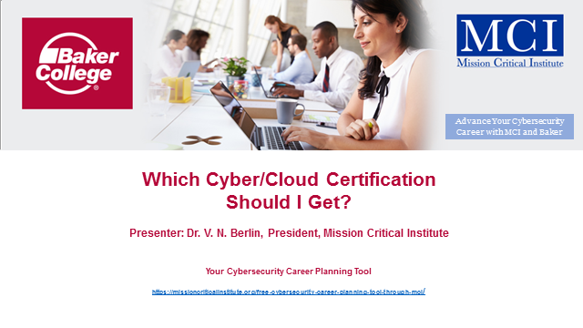 Which Cyber/Cloud Security Certification Should I Obtain?