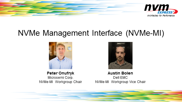 The NVMe Management Interface (NVMe-MI) - Learn What's New