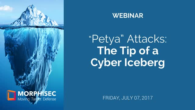 Petya/NotPetya: The Tip of a Cyber Iceberg