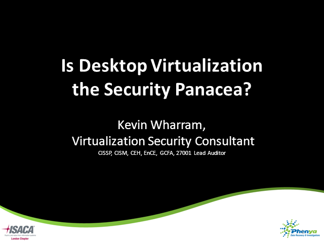Is Desktop Virtualization More Secure...?