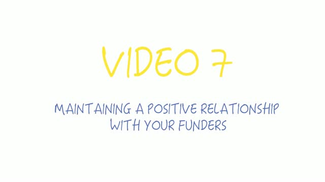 Maintaining a good relationship with your funders! Crowdfunding for startups and