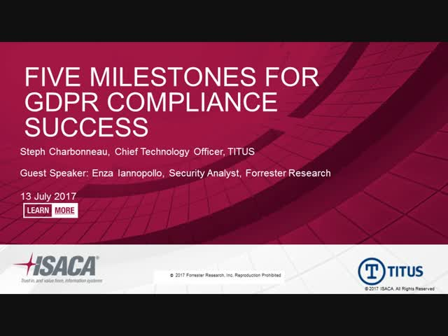 Five Milestones for GDPR Compliance Success