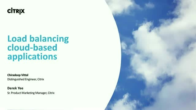 Transitioning Load Balancing to the Cloud