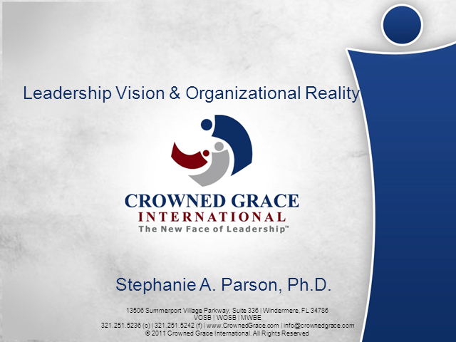 Leadership, Vision and Organizational Reality (LO701)