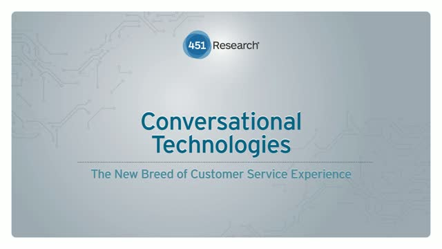 Conversational Technologies - The New Breed of Customer Service Experience