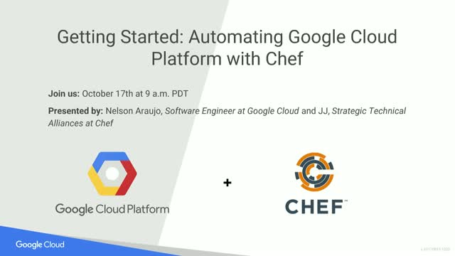 Getting Started: Automating Google Cloud Platform with Chef