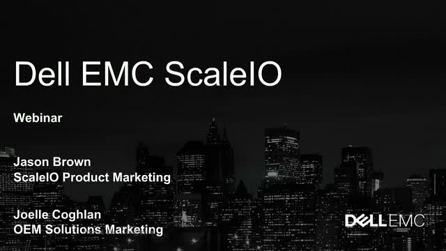 ScaleIO: scalable, flexible, software defined storage solutions