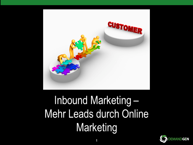 Inbound Marketing – Mehr Leads durch Online Marketing