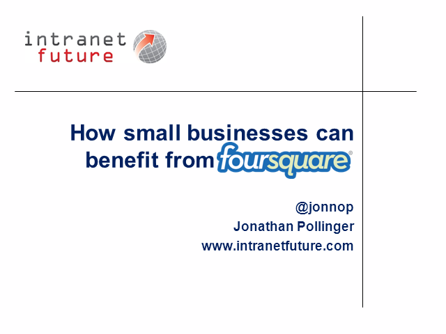 How Small Businesses Can Benefit From Foursquare