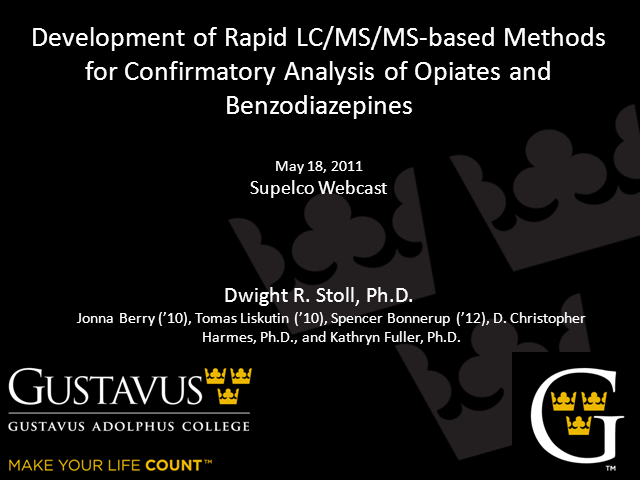 Rapid LC/MS/MS-Based Methods For Opiates & Benzodiazepines