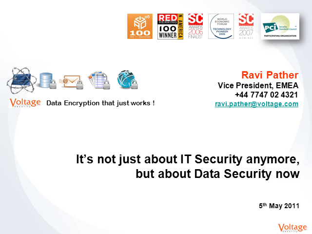 It's Not Just About IT Security..But About Data Security Now!