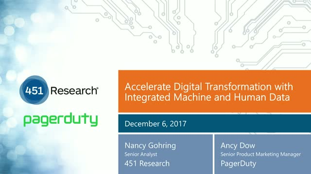 Accelerate Digital Transformation with Integrated Machine and Human Data