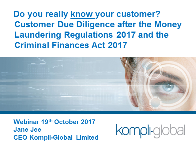 Customer Due Diligence after the Money Laundering Regulations 2017