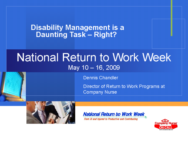 Disability Management is a Daunting Task - Right?