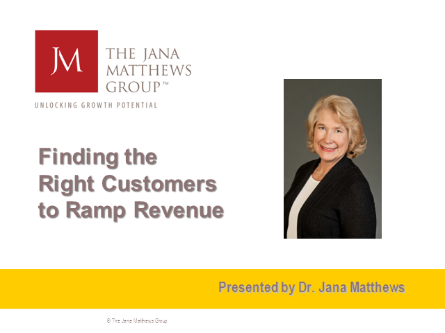 Find the Right Customers to Ramp Revenue