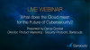What does the Cloud mean for the Future of Cybersecurity?