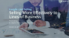 Selling More Effectively to Lines of Business