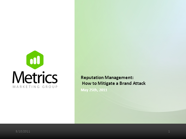 Reputation Management: How to Mitigate a Brand Attack