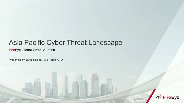 Asia Pacific Cyber Threat Landscape