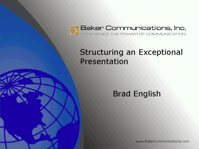 How To Give An Exceptional Presentation