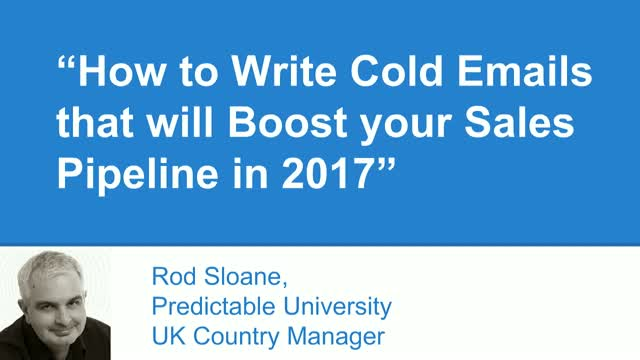 How to Write Cold Emails that Boost your Sales Pipeline in 2017
