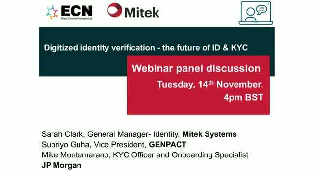 Digitized identity verification - the future of ID & KYC
