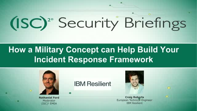 How a Military Concept can Help Build Your Incident Response Framework