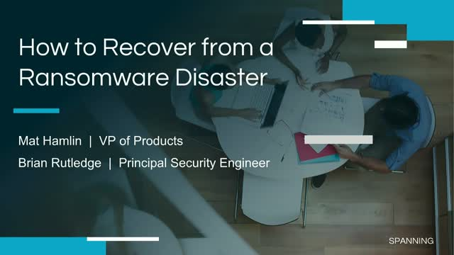 How to Recover from a Ransomware Disaster