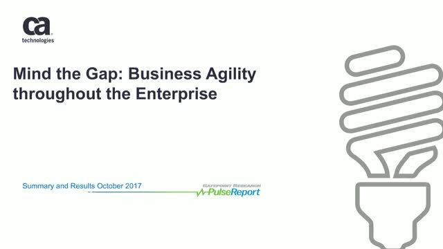 Mind the Gap: Business Agility