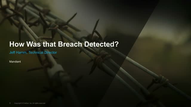 How Was that Breach Detected?