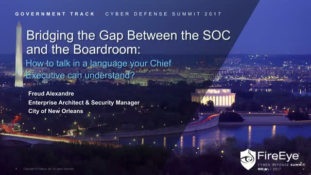 Bridging the Gap Between the SOC and the Boardroom