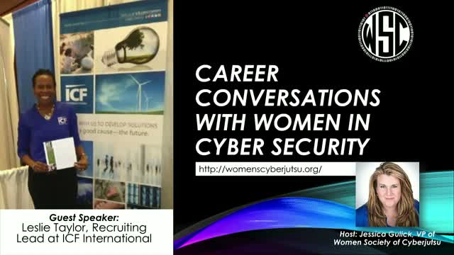 Career Conversations with Women in Cyber Security featuring Leslie Taylor