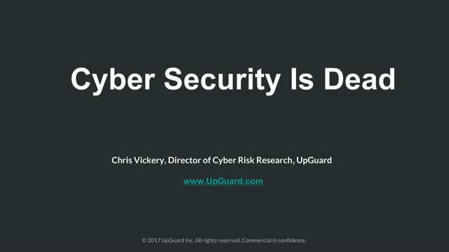 Cyber Security Is Dead