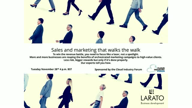 Technology Sales and Marketing that Walks the Walk